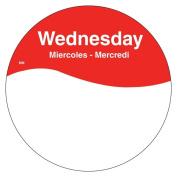 DayMark 1101083 MoveMark Trilingual 7.6cm Wednesday Day Circle - 500 / RL