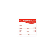DayMark 1100353 MoveMark 5.1cm Wednesday Use By Day Square - 500 / RL