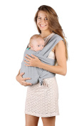 Baby Sling Carrier - Natural Cotton Nursing Cover For Newborns Breastfeeding Sling Baby Soft & Safe Holder Grey Nice Baby Shower Gift by BubblePleasure …
