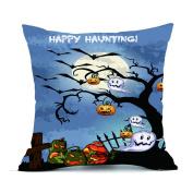 ✿Moseâ . !Halloween Party Series Pillow Cases ,Linen Sofa Cushion Cover Home Decor