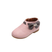 Baby Bowknot Boots, Malltop Toddler Girls Lining Ankle Zippered Casual Shoes for 1-3 Years