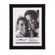 Simple Black Picture Frame 6x8 Matted to 5x7