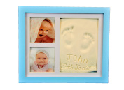 Beautiful Hand and Footprint Baby Frame, Its a Cool and Unique Baby Shower Gift, A Memorable Keepsake Baby Decoration that is a great baby gift - with a bonus gift