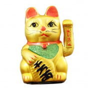 18cm Waving Lucky Fortune Cat Maneki Neko Japanese Porcelain Lucky Cat Money Box Piggy Bank
