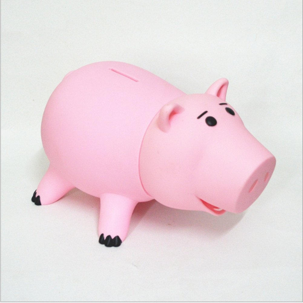 HairPhocas Cute Pink Pig Money Box Plastic Piggy Bank For Kids Birthday Gift By