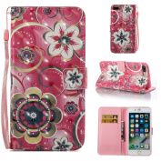 iPhone 7 Case, ARSUE Magnetic Premium Slim Fit PU Leather Kickstand Wallet Flip Protective Case Cover with Card Slot for Apple iPhone 7 12cm