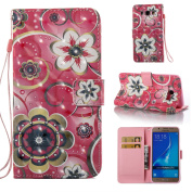 Galaxy J3 Case, Galaxy Amp Prime Case, Galaxy Express Prime Case, ARSUE PU Leather Wallet Flip Protective Case Cover with Kickstand and Card Slot for Samsung Galaxy J3 (2016) / Galaxy J3 V