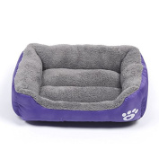 Barelove Pet Dog Bed, Washable Rectangular Pet Basket Bed , Durable and 100-Percent Waterproof and Fleece Lining Fit Most Pets