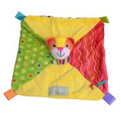 KINGSEVEN Baby Kid Toddler Toy Cute Cartoon Stuffed Animal Teething Security Blanket Soft Teether Blanekts Comforter