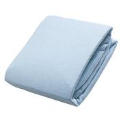 Kushies Flannel Fitted Crib Sheet Baby Blue