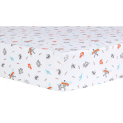 Trend Lab Moose Canoe Fitted Crib Sheet, Multi