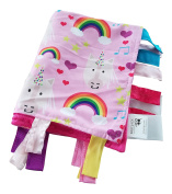 Teething Blanket Unicorn Lovey made with Minky Dot Fabric Babies Favourite Security Blanket Baby Jack & CO