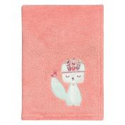 Trend Lab Wild Forever Plush Baby Blanket, Pink, Blue, White