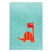 Trend Lab Dinosaur Roar Plush Baby Blanket, Green, Orange