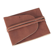 Cathy's Concepts Personalised Leather Guestbook Journal, Letter K