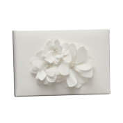 Ivy Lane Design Wedding Accessories Guest Book, Water Lily, White