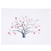 4 Types Fingerprint Tree Custom Wedding Guestbook Wedding Guestbook Poster With 6 Colours Ink