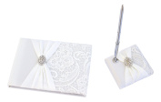 Bundle of Lillian Rose Wedding Ceremony Guest Book and Pen Set