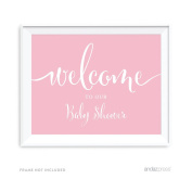 Andaz Baby Shower Party Signs, Blush Pink, 22cm x 28cm , Welcome to our Baby Shower, 1-Pack