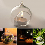 LED Light ,Lavany® Crystal Glass Hanging Candle Holder Candlestick Home Wedding Party Dinner Decor