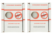 Hydrosorbent Silica Gel Dehumidifier 200 Gramme Reuseable - 2 pack