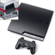 The PlayStation3 HDD 320GB CECH-2500B charcoal black Play Station 3 game console body