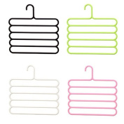 Bodhi2000 5 Layers Clothes Hanger Rack Space Saver Storage for Towel Scarf Trousers Tie