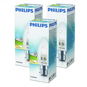 Philips 28W (35W) B22 Bayonet Cap Halogen Candle Bulb 2800K Warm White Dimmable