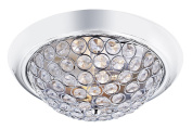 Contemporary Chrome and Crystal Beaded IP44 Bathroom Ceiling Light Fitting by Haysoms