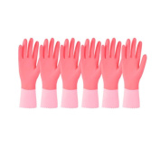6 Pair Housework Clean Kitchen Brush Bowl Plastic Leather Gloves Durable,A3