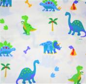 Dinosaur Land 100% Cotton (FLAT SHEET ONLY) Size TODDLER Boys Girls Kids Bedding