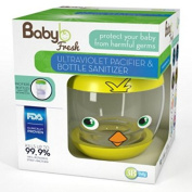Portable Ultraviolet UV Pacifier Bottle Sanitizer & Pacifier With Bottle Nipple, Teething Toys, and Sippy Cups Sanitizer - Kills Germs & Bacteria, and Keeps Babies Safe - Chicky By Baby B Fresh