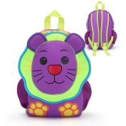 Sunkey Kindergarten Backpacks for Toddler 3D Cute Zoo Animal Cartoon Unique Kids Preschool Neoprene Backpacks, Lion