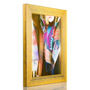 Craig Frames Gesso, Yellow Plain Wooden Picture Frame, 20cm by 25cm