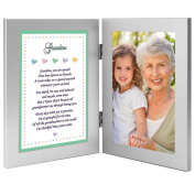 Gift for Grandma From Grandchild - Sweet Poem in Double Frame From Baby, Infant, Child - Add Photo
