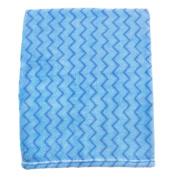 Cosy Fleece Baby Blankets, Blue Chevron