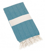 Eshma Mardini Turkish Cotton Quilt Bed Spread Blanket Bed Cover for All Season 250cm x 200cm - Patrol Blue