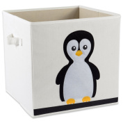 """E-Living Store Collapsible Storage Bin Cube for Bedroom, Nursery, Playroom and More 13x 33cm x 13"""" - Penguin"""