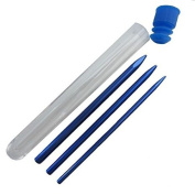 3 Different Size Blue Paracord Lacing Needles with Storage Capsule