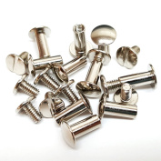 10 Pack 1.3cm Solid Chicago Screws Leather Repair Screw Post Fastener