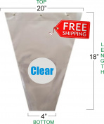 Flower Bouquet Unprinted 37 Micron Clear Plastic Sleeve Bag 50 Pcs 20x18x4