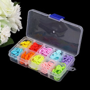 120Pcs Colourful Knitting Stitch Markers Crochet Locking Tool Craft Ring Holder by HittecH