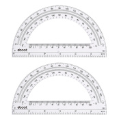 eBoot Plastic Protractor Math Protractors 180 Degrees, 15cm , Clear, Pack of 2
