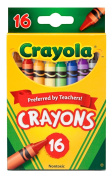 Crayola Crayons 16 Per Box (Pack of 12) 192 Crayons in Total