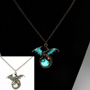 Fairy Dragon Glow In The Dark Pendant Necklace Chain Magic Steampunk Pretty Gift