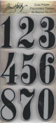 TIM HOLTZ STAMPER ANONYMOUS CLING STAMPS- THJ006 MINI NUMERIC