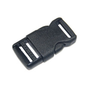 "1/2""(12mm) Black Side Release Plastic Buckles for Bag 10pcs"