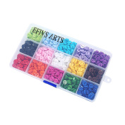 "Efivs Arts 1125 pcs 0.35""(9mm) 2 Hole Sewing Flatback Resin Buttons For Sewing DIY Crafts Project with Box, 15 Colours"