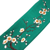 Embroidered Plum Blossom Flower Patch Iron/Sew on Applique Motif Craft by UBOOMS