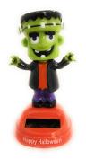 Solar Powered Dancing Frankenstein Happy Halloween Monster Green Orange Black